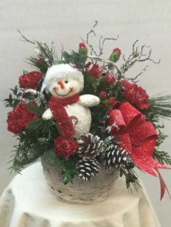 Snowman Basket