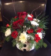 Snowman Basket  Holiday