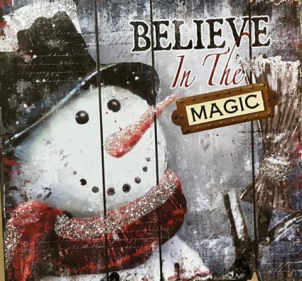 Snowman Believe Sign 15