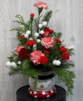 Snowman Bouquet Arrangement