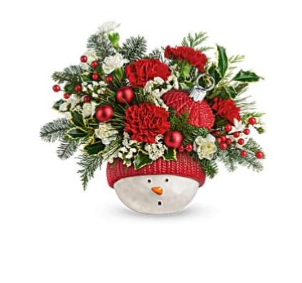 Snowman's Ornament Bouquet  Christmas