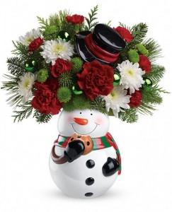 Snowman Cookie Jar  in Wickliffe, OH | WICKLIFFE FLOWER BARN