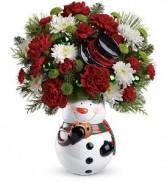 Teleflora Snowman Cookie Jar