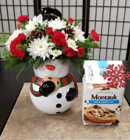 Snowman Cookie Jar With Cookies Very Limited Stock call for ordering*