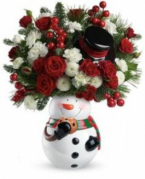 Snowman Cookies! Fresh Arrangement