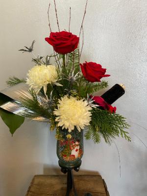 Snowman Dazzler Candle Holder  in North Platte, NE   PRAIRIE FRIENDS & FLOWERS