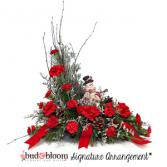 Snowman Family Bud & Bloom Signature Arrangement
