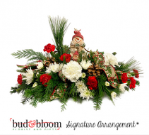 Snowman Family Bud & Bloom Signature Arrangement