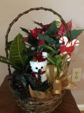 Snowman garden Planter basket