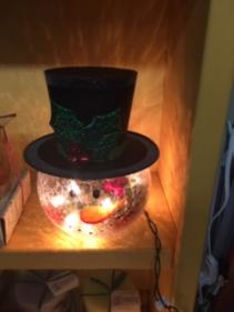 Snowman Head Lamp