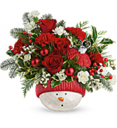 Snowman Ornament Arrangement