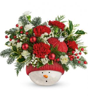 Snowman Ornament Arrangement in Glasgow, MT   GLASGOW FLOWER & GIFT