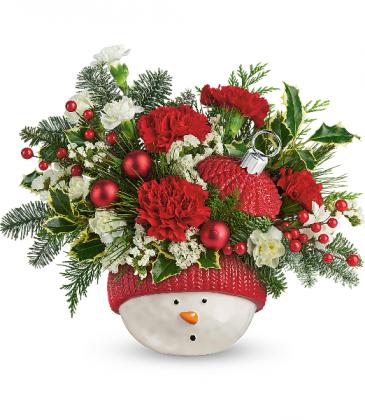 *Sold Out *   Snowman Ornament Bouquet  2020 T20X400A  Teleflora