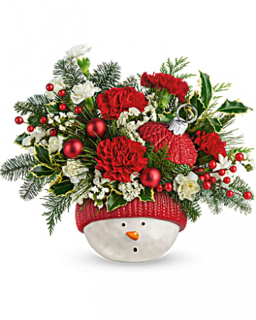 Snowman Ornament Bouquet Holiday