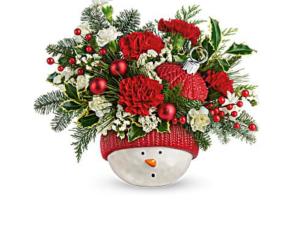Snowman Ornament Ceramic ornament in Fairfield, OH | NOVACK-SCHAFER FLORIST