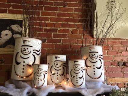 Snowman Tins