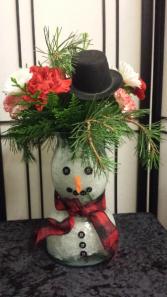 Snowman Vase  Vase Arrangement