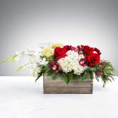 Snowman's Scarf Floral arrangement