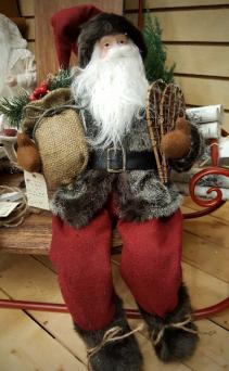 Snowshoes and Fur Coat  Santa 50% Off
