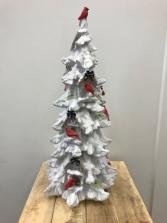Snowy Cardinal Tree