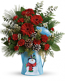 Snowy Daydreams Bouquet by Teleflora Christmas