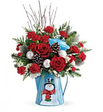 Snowy Daydreams Bouquet       T18X300 Keepsake Arrangement