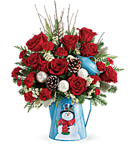 Snowy Daydreams Bouquet Teleflora in Springfield, IL | FLOWERS BY MARY LOU INC