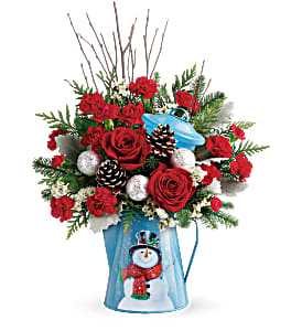 Snowy Daydreams Christmas Arrangement in Winnipeg, MB | Ann's Flowers & Gifts