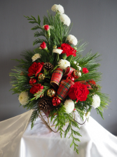 Snowy Sleigh Ride Flower Arrangement