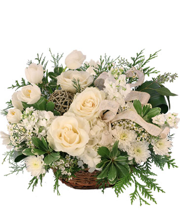Snowy Spectacular Basket Arrangement