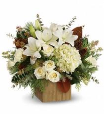 Snowy Woods Bouquet floral arrangement