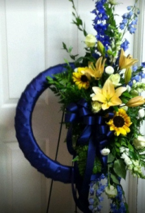 So Blue Without You Funeral Wreath