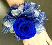 So Blue Wrist Corsage