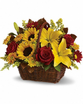 So Bright Basket Arrangement