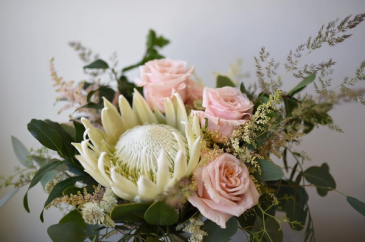 Soft and Creamy Handtied Bridal Bouquet