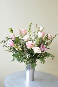 Soft and Elegant Custom Fitzgerald Flowers Arrangement