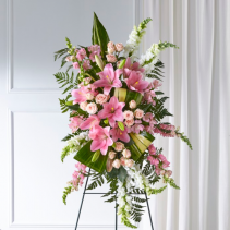 Soft and Sweet Pinks Standing Spray