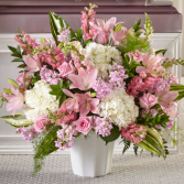 Soft and Sweet Pinks Sympathy Arrangement