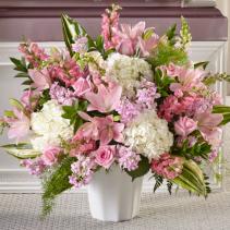 Soft and Sweet Pinks Sympathy Arrangement