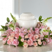 Soft and Sweet Pinks Urn Arrangement