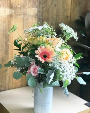 Soft and Sweet Vase Arrangement in Huntington, TX | LIZA'S GARDEN