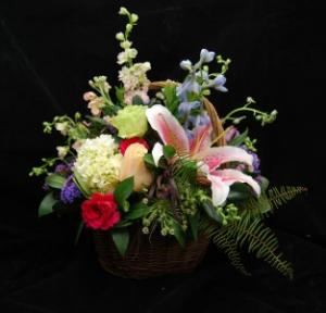 Soft Beautiful Basket Basket Arrangement in Brattleboro, VT | WINDHAM FLOWERS