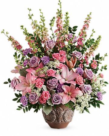 Soft Blush Bouquet Funeral Bouquet