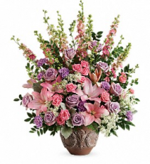 Soft Blush Bouquet Funeral Sympathy