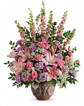 Soft Blush Bouquet Sympathy Arrangement