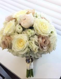 Soft Cream & Blush Wedding Bouquet