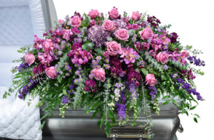 Soft Lavender Casket Spray  in Bronx, NY | Bella's Flower Shop