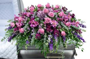 Soft Lavender Casket Spray  in Bronx, NY | Bella's Flower Shop
