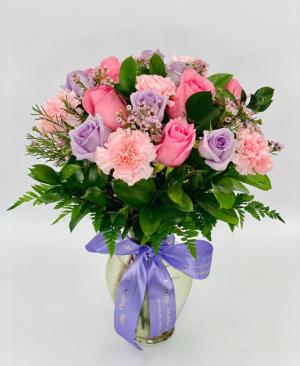Soft Pink and Lavender Arrangement  in Tamarac, FL   Ellie Flowers and Gift Shop