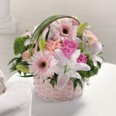 Soft Pink Basket